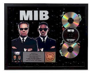 A Men in Black: The Album RIAA Certified 3x Platinum Presentation Album 17 1/4 x 21 1/4 inches.