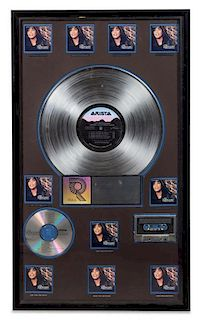 A The Bodyguard: Motion Picture Soundtrack RIAA Certified 10x Platinum Presentation Album 29 x 17 inches.