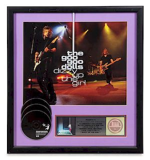 A The Goo Goo Dolls: Dizzy Up The Girl RIAA Certified 3x Platinum Presentation Album 22 1/2 x 20 inches.