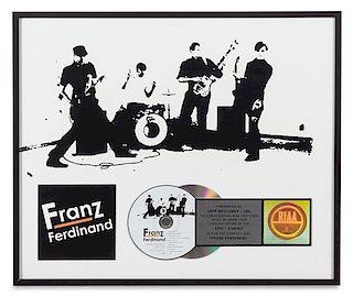 A Franz Ferdinand: Self Titled RIAA Certified Platinum Presentation Album 17 x 19 3/4 inches.