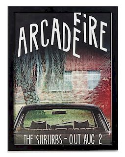 An Arcade Fire: The Suburbs Promotional Poster 17 x 13 1/4 inches.