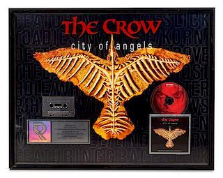 A The Crow: City of Angels RIAA Certified Platinum Presentation Album 20 x 35 inches.