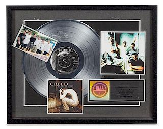 A Creed: My Own Prison RIAA Certified Platinum Presentation Album 17 x 20 3/4 inches.