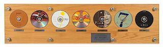 A Virgin Records 1993 Commemorative Records Plaque 10 1/2 x 40 inches.