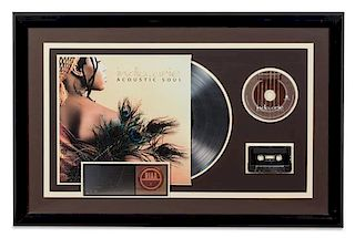An India Alive: Acoustic Soul RIAA Certified Platinum Album 20 1/2 x 31 inches.