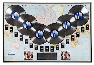 A Richard Marx: Repeat Offender 6 Million Copies Sold Worldwide Presentation Album 33 x 49 inches.