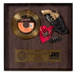A The Escape Club: Wild Wild West Atlantic Records Certified Gold Album and Single Presentation Album 15 1/4 x 15 1/4 inches.