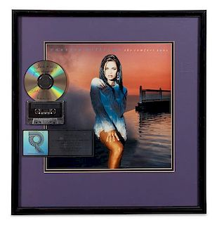 A Vanessa WIlliams: The Comfort Zone RIAA Certified Platinum Presentation Album 22 x 21 inches.