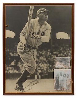 A Babe Ruth Autographed Poster