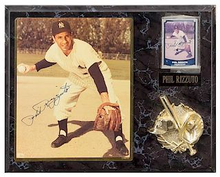 A Phil Rizzuto Autographed Photo Photo 10 x 8 inches.