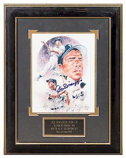 A Joe DiMaggio Autographed Photo 19 x 15 1/4 inches overall.