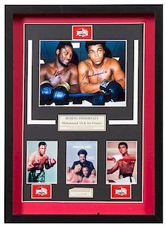 A Muhammad Ali and Joe Frazier Autographed Photo