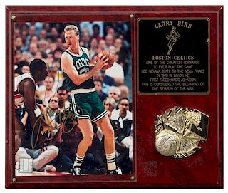 A Larry Bird Autographed Photo Photo 10 x 8 inches.