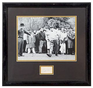 An Arnold Palmer Clipped Autograph 18 1/2 x 19 1/2 inches overall.