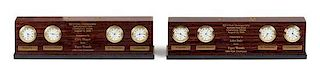 Two PGA Championship Presentation Clock Height 3 x width 12 inches.