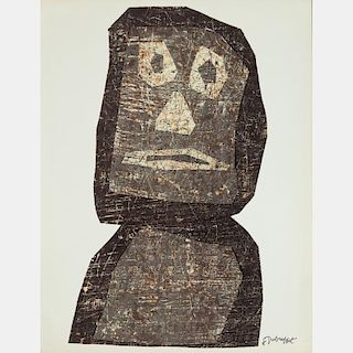 Jean Dubuffet (1901-1985) Personnage, Lithograph,