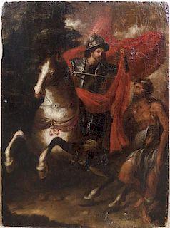 """Old Master Italian painting """"St. Martin"""""""