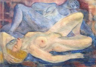 European Modernist Czech? Two female Nudes 1931