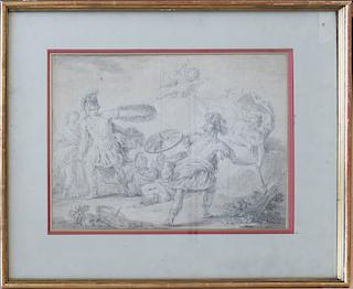 Old Master Italian 18th century mythological drawing