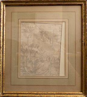 Old Master mythological drawing