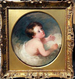 Old Master British Portrait Thomas Lawrence attr