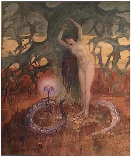 Bernhard Borchert  (1862 - 1945) Nude Russian Latvian