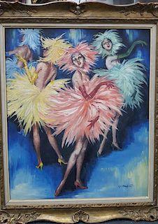 George Muhlfield tropical dancers paintings mid-century modern impressionist
