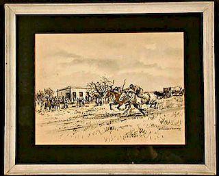 Enrique Castells Capurro (1913-1987) Horse Racing painting