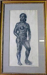 John Sloan  (1871 - 1951) Nude study