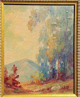 Martella Lane Vintage California Woods & Mountain Landscape