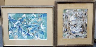 Newburger Modernist Mid-Century Abstract Paintings