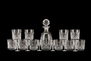 "Waterford ""Lismore"" Crystal Glassware, 17 Pieces"