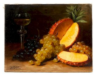 "Eduard Huber-Andorf, ""Still Life With Pineapple"""