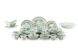 "57 Pieces Adams Ironstone ""Singapore Bird"""