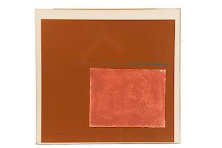 "Theodoros Stamos, ""Spartan Sun Box #1"", Serigraph"