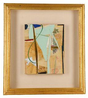 "John Pavlicek, ""Untitled"", Mixed Media Collage"