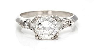 A Platinum and Diamond Ring, 8.20 dwts.