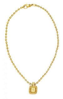 A Yellow Gold and Diamond Pendant, 20.30 dwts.