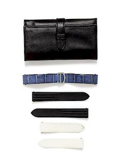 """A Collection of Interchangeable """"Roadster"""" Wristwatch Straps, Cartier,"""