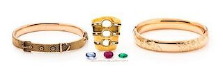 A Collection of Rose and Yellow Gold Jewelry, 29.30 dwts.