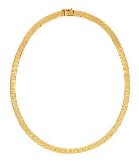 An 18 Karat Yellow Gold Collar Necklace, 18.60 dwts.
