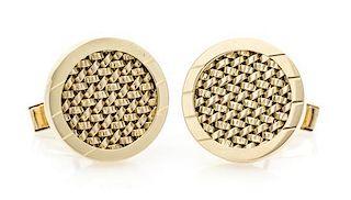 A Pair of Yellow Gold Cufflinks, 13.15 dwts.