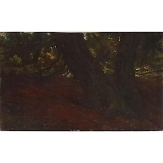 """In The Manner of Claude Monet, French (1840-1926) 19th Century Impressionist School Oil on Board Wooded Landscape"""""""