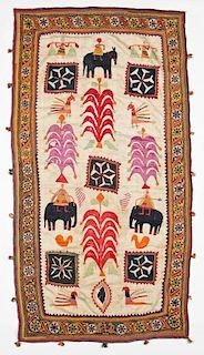 Old Sind Pictorial Folk Tapestry