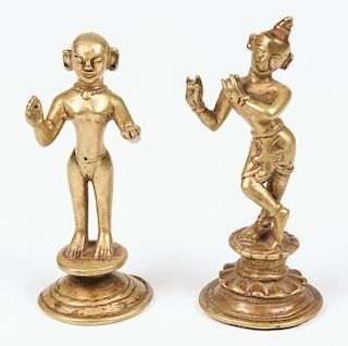 Fine Krishna/Radha Statues, Ca. 1800