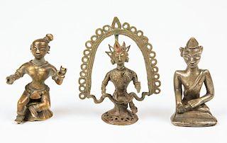 3 Indian/Burmese Bronze Statues, Ca. 1800