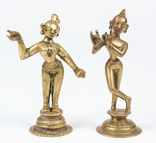 Krishna and Radha Statues, Ca. 1800-1850