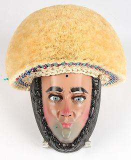 Parachico Mask w/Montera, Chiapas, Mexico