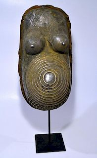 Rare Yoruba Metal Body Mask