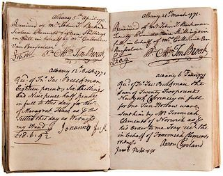 Revolutionary War Account Book with Several Notable Signatures